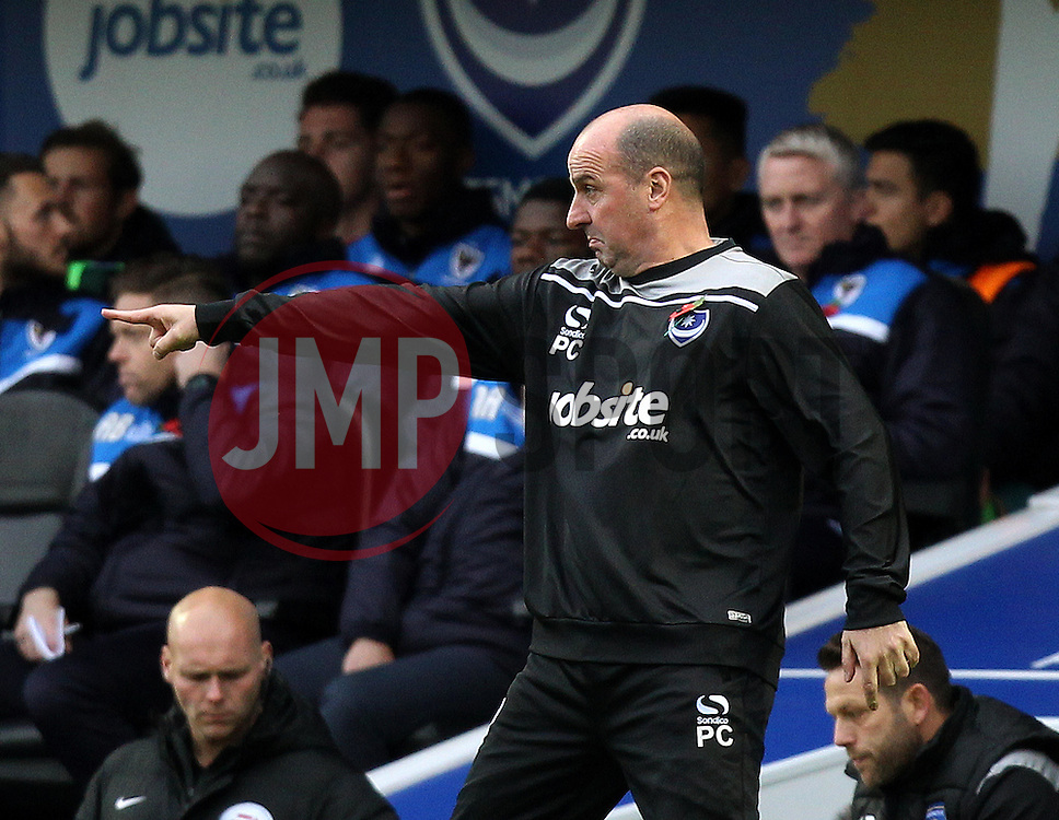 Portsmouth Manager Paul Cook - Mandatory byline: Robbie Stephenson/JMP - 07966 386802 - 15/11/2015 - Rugby - Fratton Park - Portsmouth, England - Portsmouth v AFC Wimbledon - Sky Bet League Two