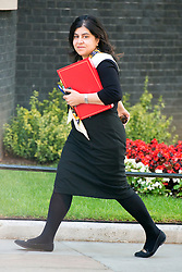© Licensed to London News Pictures. 08/07/2014. Westminster, UK The Baroness Warsi PC, Minister of State for Faith and Communities,  arriving on Downing Street today 8th July 2014 for the weekly cabinet meeting. Photo credit : Stephen Simpson/LNP