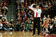 November 8, 2013: Head coach Tim Miles of the Nebraska Cornhuskers sending a play in against the Florida Gulf Coast Eagles at the Pinnacle Bank Areana, Lincoln, NE. Nebraska defeated Florida Gulf Coast 79 to 55.