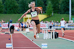 Snezana Rodic of Slovenia during the women's triple jump at athletics meeting Ljubljana Grand Prix 2010 for 5th Memorial Matic Sustersic and Patrik Cvetan on August 29, 2010, in Ljubljana, Slovenia. (Photo by Matic Klansek Velej / Sportida)