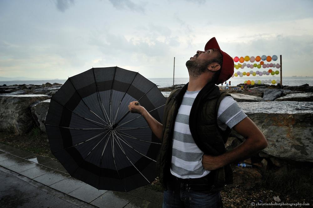 Ballon Shooting in Kadikoy, istanbul, 2010