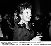 Carla Powell. Sunday  Times Xmas Party. Banqueting House, Whitehall. London SW1. 9/12/97. Film 97713f22<br />