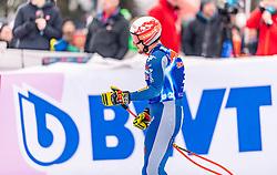 25.01.2020, Streif, Kitzbühel, AUT, FIS Weltcup Ski Alpin, Abfahrt, Herren, im Bild Mattia Casse (ITA) // Mattia Casse of Italy reacts after the men's downhill of FIS Ski Alpine World Cup at the Streif in Kitzbühel, Austria on 2020/01/25. EXPA Pictures © 2020, PhotoCredit: EXPA/ Stefan Adelsberger