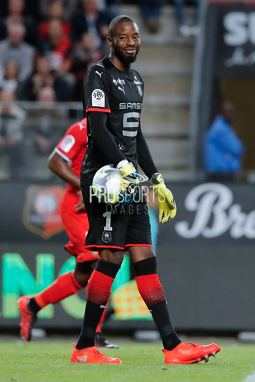 Abdoulaye DIALLO (STADE RENNAIS FOOTBALL CLUB) during the French championship L1 football match between Rennes v Lyon, on August 11, 2017 at Roazhon Park stadium in Rennes, France - Photo Stephane Allaman / ProSportsImages / DPPI