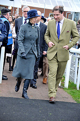 HRH The PRINCESS ROYAL and JO THORNTON MD moet Hennessy UK at the Hennessy Gold Cup at Newbury Racecourse, Berkshire on 26th November 2011.
