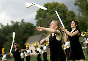 during the Marion Marching Invitational on Saturday, September 26, 2009. The competition was one of three other band contests taking place in the area. The others were held at Linn-Mar and Prairie High. (Crystal LoGiudice/The Gazette). .