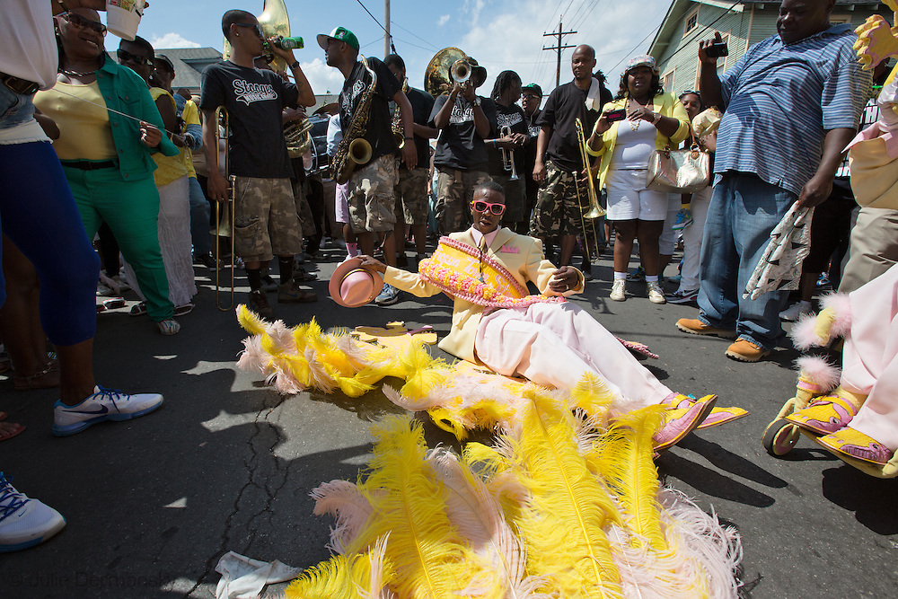 March 31, 2013, Pigeon Steppers in an Easter Parade in the uptown neighborhood in New Orleans, Louisiana.