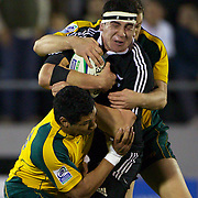 Jeff Allen, New Zealand, in action during the Australia V New Zealand Final match at the IRB Junior World Championships in Argentina. New Zealand won the match 62-17 at Estadio El Coloso del Parque, Rosario, Argentina. 21st June 2010. Photo Tim Clayton...