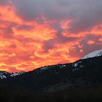 Sunset on Teton Pass, Wyoming
