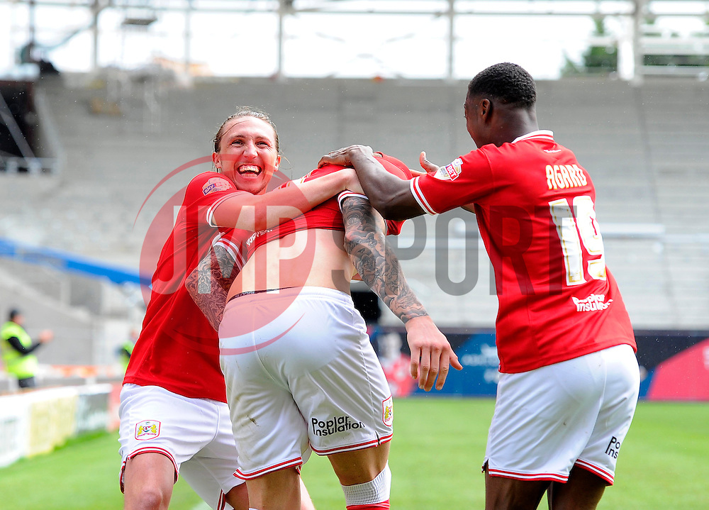Bristol City's Aden Flint celebrates his hat trick goal  - Photo mandatory by-line: Joe Meredith/JMP - Mobile: 07966 386802 - 03/05/2015 - SPORT - Football - Bristol - Ashton Gate - Bristol City v Walsall - Sky Bet League One
