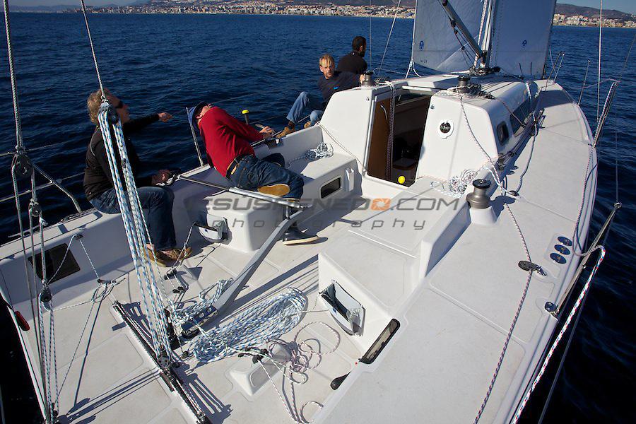 Pacer 31 sail test for yacht magazine,Málaga,Spain,dec-07-2011