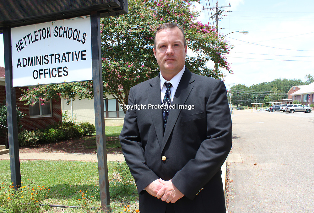 RAY VAN DUSEN/BUY AT PHOTOS.MONROECOUNTYJOURNAL.COM<br /> Nettleton School District Superintendent Brian Jernigan is in his first year of being a superintendent after serving 10 years with the Monroe County School District.