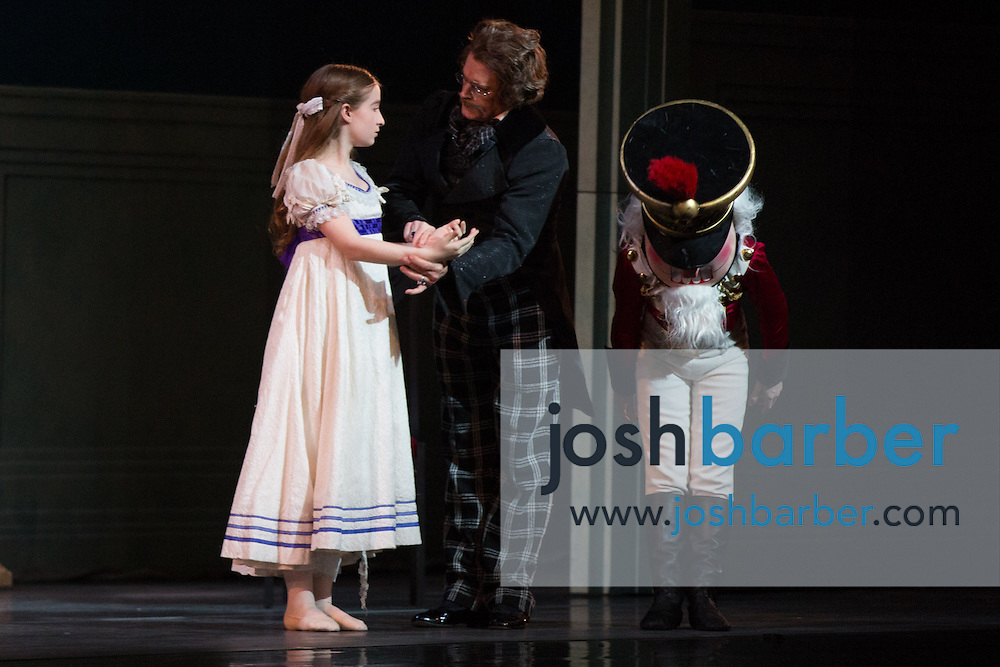"""Claudia Schuman, Victor Barbee, Seth Koffler during American Ballet Theatre's performance of """"The Nutcracker"""" at Segerstrom Center for the Arts on Thursday, December 10, 2015 in Costa Mesa, California. (Photo/Josh Barber)"""
