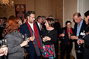 JUNE MCCLUSKEY; RICHARD BACON; ; JENNIE BLOUET; BERNIE KATZ, Streetsmart Reception at 11 Downing St. London. 1 November 2011. <br /> <br />  , -DO NOT ARCHIVE-© Copyright Photograph by Dafydd Jones. 248 Clapham Rd. London SW9 0PZ. Tel 0207 820 0771. www.dafjones.com.