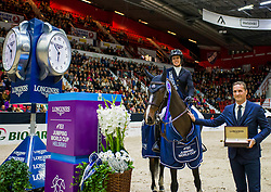 Longines FEI World Cup™ Helsinki; Gudrun Patteet - Sea Coast Pebbles Z BEL and Kasper Gebeke<br /> Photo FEI/ Satu Pirinen