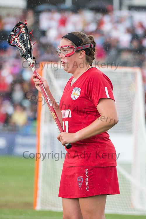 Jennifer Simpson at the 2017 FIL Rathbones Women's Lacrosse World Cup at Surrey Sports Park, Guilford, Surrey, UK, 15th July 2017