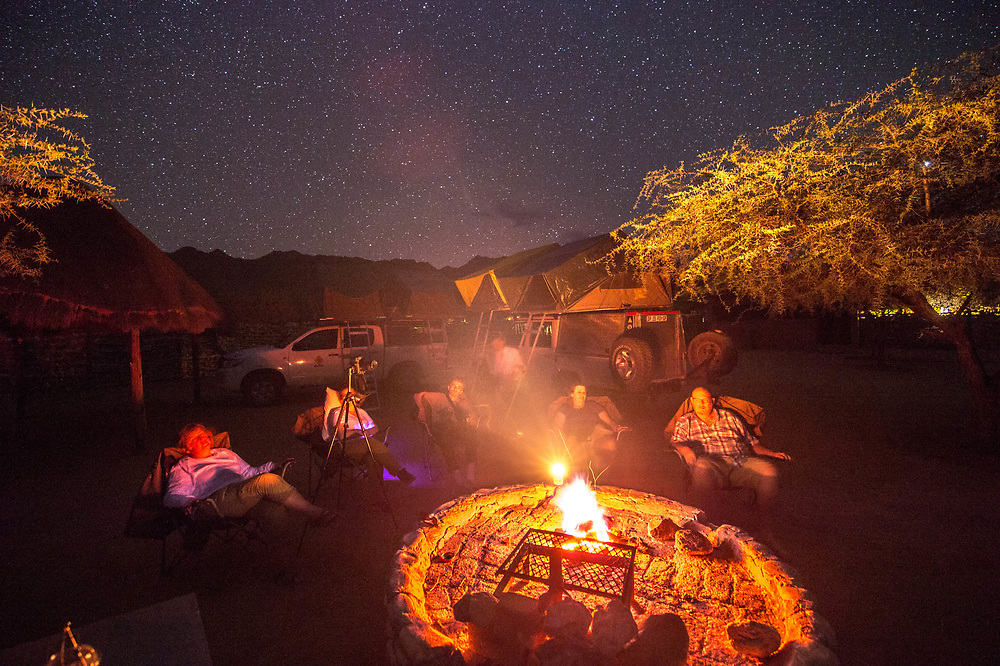 Campfire near Solitaire, Namibia