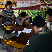 Cambodia, 2014. Rangers keep the minutes for wildlife smuggling.