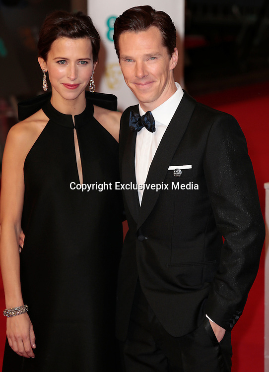 Feb 8, 2015 - EE British Academy Film Awards 2015 - Red Carpet Arrivals at Royal Opera House<br /> <br /> Pictured: Benedict Cumberbatch and Sophie Hunter<br /> ©Exclusivepix Media