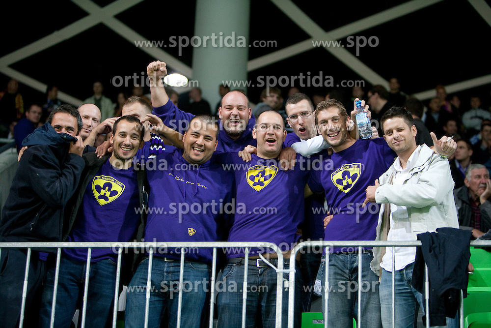 Viole, fans of Maribor during the football match between NK Olimpija and NK Maribor, played in the 4th Round of Prva liga football league 2010 - 2011, on September 29, 2010, in Stozice, Ljubljana, Slovenia. Maribor defeated Olimpija 1 - 0. (Photo by Vid Ponikvar / Sportida)
