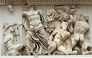 The Pergamum Museum, Berlin. The museum is subdivided into the antiquity collection, the Middle East Museum and the museum of Islamic art. The museum is visited every year by 1,135,000 people, making it the most visited art museum in Germany.