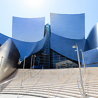 Photo of Walt Disney Concert Hall entrance in downtown Los Angeles California.