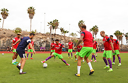 Freddie Hinds of Bristol City in action during the warm up - Mandatory by-line: Matt McNulty/JMP - 22/07/2017 - FOOTBALL - Tenerife Top Training - Costa Adeje, Tenerife - Bristol City v Atletico Union Guimar  - Pre-Season Friendly