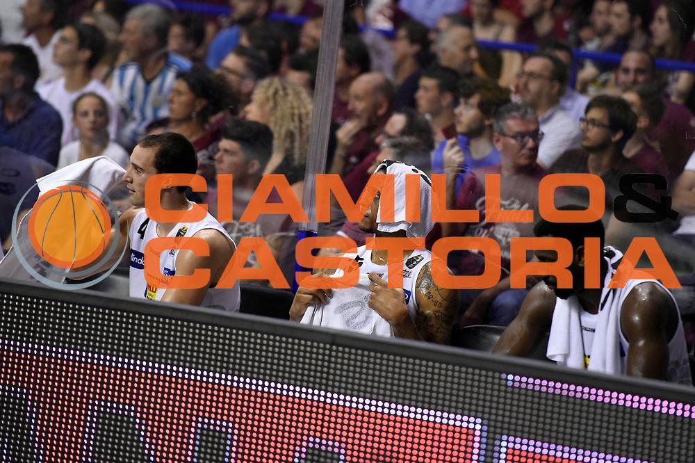 Aaron Craft, Joao Gomes, Dustin Hogue<br /> Umana Reyer Venezia - Dolomiti Energia Aquila Basket Trento<br /> Lega Basket Serie A 2016/2017<br /> Playoff, finale gara 2<br /> Venezia, 12/06/2017<br /> Foto M.Ceretti / Ciamillo-Castoria