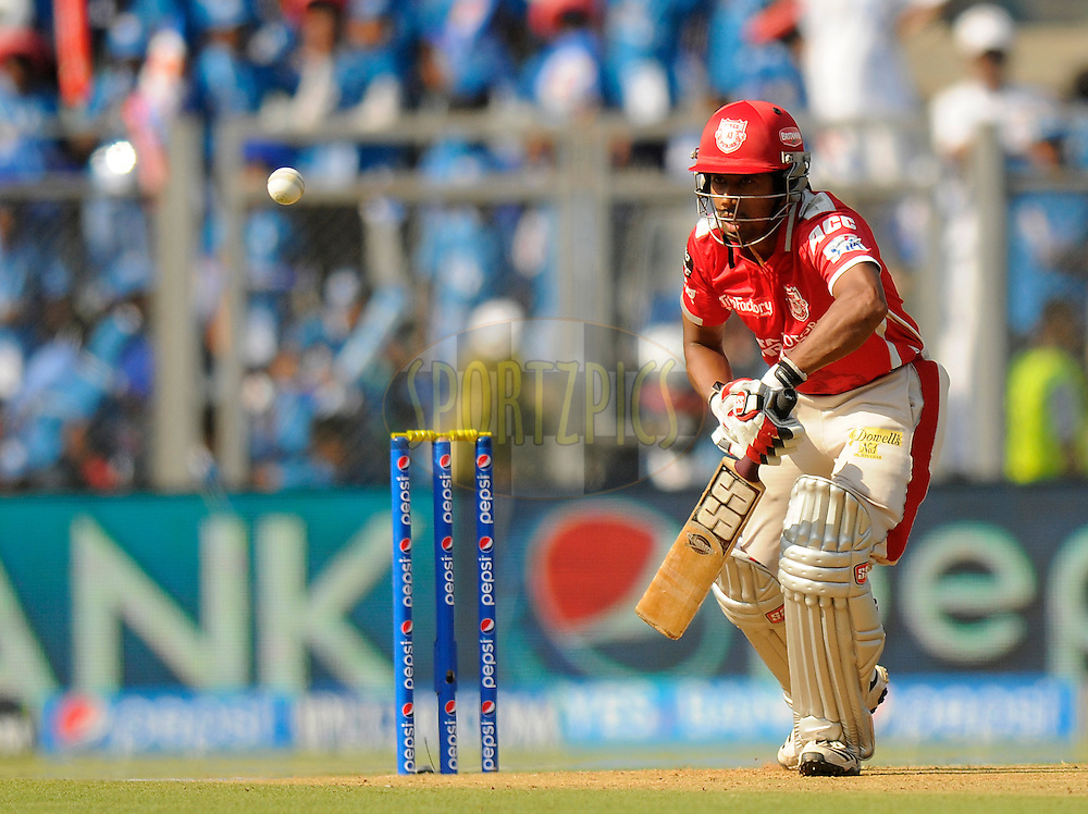 Wriddhiman Saha of the Kings X1 Punjab bats during match 22 of the Pepsi Indian Premier League Season 2014 between the Mumbai Indians and the Kings XI Punjab held at the Wankhede Cricket Stadium, Mumbai, India on the 3rd May  2014<br /> <br /> Photo by Pal Pillai / IPL / SPORTZPICS<br /> <br /> <br /> <br /> Image use subject to terms and conditions which can be found here:  http://sportzpics.photoshelter.com/gallery/Pepsi-IPL-Image-terms-and-conditions/G00004VW1IVJ.gB0/C0000TScjhBM6ikg