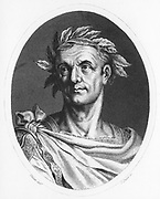Julius Caesar (100-44 BC) Roman soldier and statesman. Engraving c1825.
