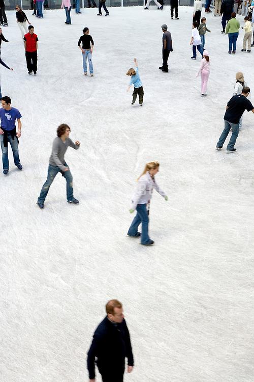 ice skating ring at Rockefeller center in New York City