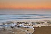 foggy ocean at sunrise