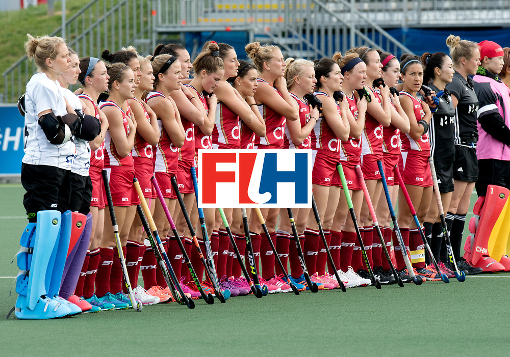 AUCKLAND - Sentinel Hockey World League final women<br /> Match id: 10309<br /> 19 USA v CHN (Losing Q/Finalists Match)<br /> Foto: line up.<br /> WORLDSPORTPICS COPYRIGHT FRANK UIJLENBROEK