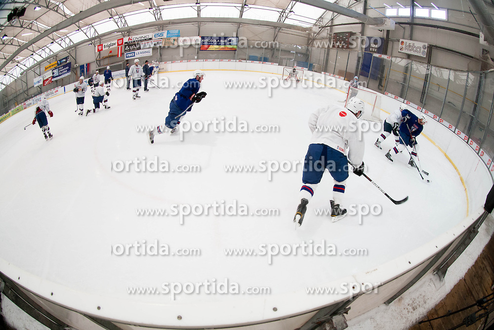 Players during practice session of Slovenian Ice Hockey National Team for IIHF World Championship in Sweden and Finland, on March 28, 2013, in Arena Zlato Polje, Kranj, Slovenia. (Photo by Vid Ponikvar / Sportida.com)