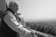 Vienna, seen from Kahlenberg. Iouli Andreev, former Chief Liquidator during the Chernobyl nuclear catastrophe. Lives in Vienna with his wife, cat and one remaining lung.