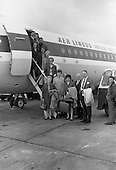 1968 The Irish Bridge Team depart for the World Bridge Olympiad at Deauville,