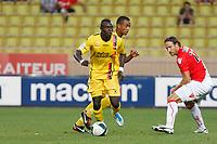 FOOTBALL - FRENCH CHAMPIONSHIP 2011/2012 - AS MONACO v US BOULOGNE - 01/08/2011 - PHOTO PHILIPPE LAURENSON / DPPI - ZARGO TOURE (BOU) / THORSTEIN HELSTAD (MON)