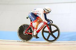 March 4, 2018 - Apeldoorn, Netherlands - Elinor Barker (GBR) - Women's point race .during UCI Track Cycling World Championships Apeldoorn 2018, in Apeldoorn, Netherlands, on March 4, 2018. (Credit Image: © Foto Olimpik/NurPhoto via ZUMA Press)