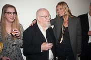 DAISY DE VILLENEUVE; KATE MOSS; SIR PETER BLAKE;, Opening of Bailey's Stardust - Exhibition - National Portrait Gallery London. 3 February 2014