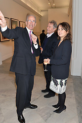Left to right, SANDY NAIRN, DAVID JENKINS and ALEXANDRA SHULMAN at a private view of photographs by David Bailey entitled 'Bailey's Stardust' at the National Portrait Gallery, St.Martin's Place, London on 3rd February 2014.