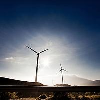 Wind turbines in a spanish landscape