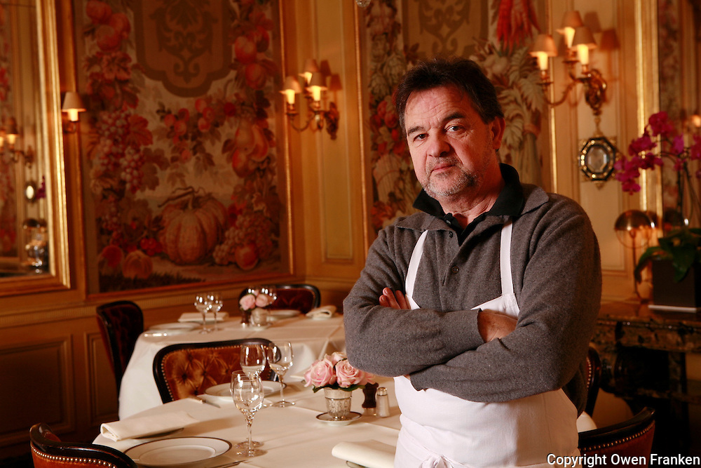 Bernard PACAUD and Matthieu , his son<br /> <br /> Bernard Pacaud is the chef and owner of l'Ambroisie, the three star (Michelin) restaurant in the Place des Vosges, ParisBernard PACAUD <br /> <br /> Bernard Pacaud is the chef and owner of l'Ambroisie, the three star (Michelin) restaurant in the Place des Vosges, Paris