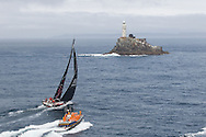 IRELAND, Fastnet Rock. 2nd July 2012. Volvo Ocean Race, Leg 9, Lorient to Galway. PUMA Ocean Racing powered by BERG approaches the Fastnet Rock.