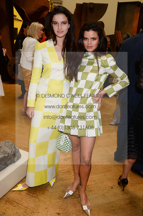 Left to right, sisters EVANGELINE LING and BIP LING at the preview party for The Royal Academy Of Arts Summer Exhibition 2013 at Royal Academy of Arts, London on 5th June 2013.