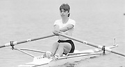 Nottingham. United Kingdom. <br /> Clare PARKER. [NCRA]<br /> Nottingham International Regatta, National Water Sport Centre, Holme Pierrepont. England<br /> <br /> 31.05.1986 to 01.06.1986<br /> <br /> [Mandatory Credit: Peter SPURRIER/Intersport images] 1986 Nottingham International Regatta, Nottingham. UK