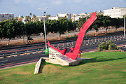 Israel, Haifa, The Clandestine Immigration and Navy Museum The memorial to the crew of the Destroyer INS Eilat sunk near Sinai in 1967 leaving 47 dead and 91 wounded