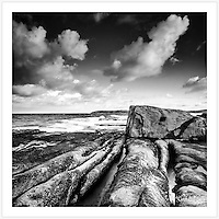 Weathered rocks at Jack Vanny Reserve, Maroubra, in south eastern Sydney [Maroubra, NSW]<br />