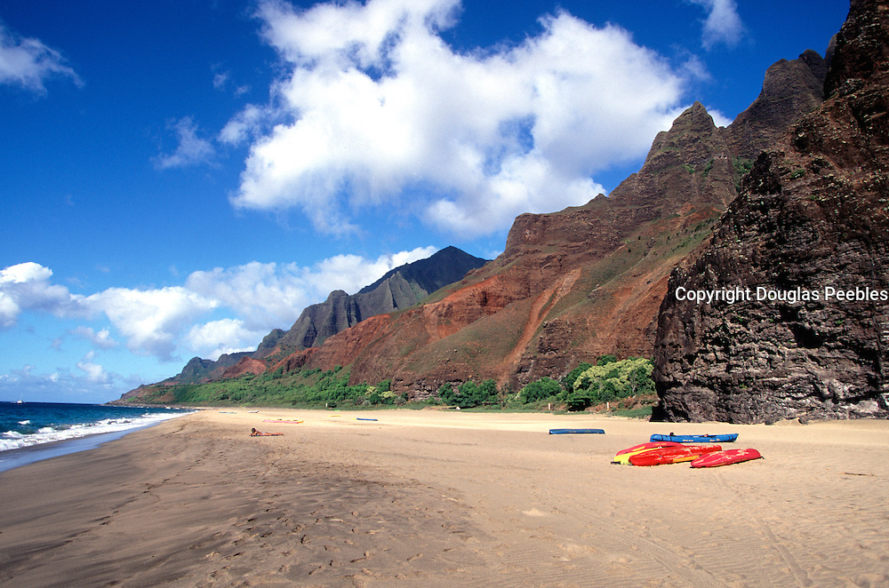 Kalalau Beach, Napali Coast, Kauai, Hawaii<br />