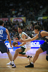 Richar Drake Diener (21) and Robert Troha (9) at Euroleague match between KK Cibona and Air Avellino, on November 26, 2008, in Cibona Tower, Zagreb, Croatia. Match was won by Cibona 82:79. (Photo by Vid Ponikvar / Sportida)