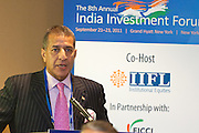 Institutional Investor's India Investment Forum featured a special session with The Honourable Pranab Mukherjee, .Finance Minister, Ministry of Finance, Government of India on September 21, 2011 at the Grand Hyatt Hotel in New York.